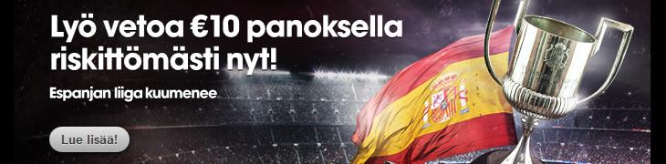 Betsafelta 10€ riskitön veto La Ligaan