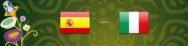 Kertoimet jalkapallon EM-finaaliin Espanja-Italia