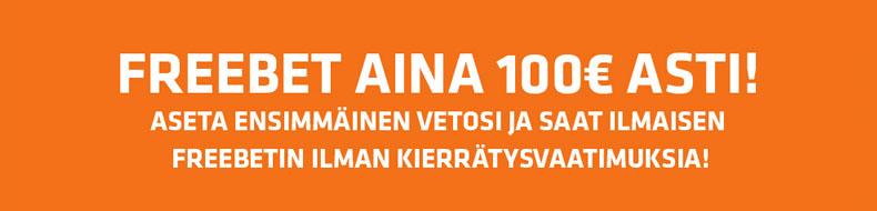 Expektiltä 100 euron ilmaisveto ilman kierrätysvaatimuksia!
