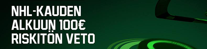 Unibetilta 100 euron riskitön veto NHL-kauden alkuun